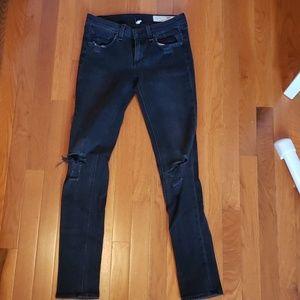 Rag & Bone black skinny Jeans size 26
